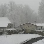 La neige est là ! (7 cm en janvier 2006)
