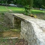 Le pont sur le canal de fuite (sans les rambardes)