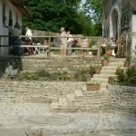 L'escalier pour aller sous le moulin