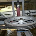Poulie de sortie de la turbine